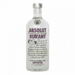 Absolut Kurant Vodka 40%  (1L)