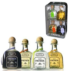 Patron Tequila Mini Set (4 X 375 ml )