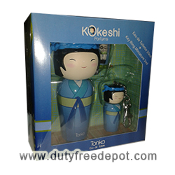 Kokeshi Tonka Set Of Miniature (8 ml) Key Ring Eau De Senteur (50 ml./1.7 oz.)