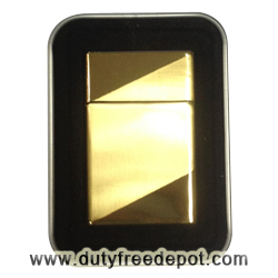 Zippo Style Gold Plate Lighter