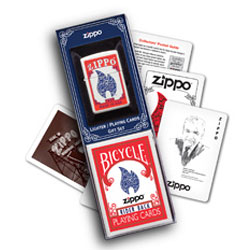Zippo  214 Flame lighter and Playing Cards - Gift Set (model: 24880)