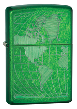 Zippo Meadow Green lighter (model: 24949)