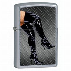 Zippo Legs in Boots Street Chrome Lighter (model: 28055)