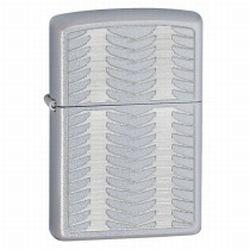 Zippo Lightly Feathered Satin Chrome Lighter (model: 28051)