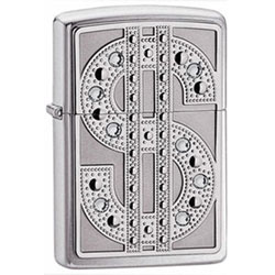 Zippo High Polish Chrome Bling Emblem Lighter (model: 20904)