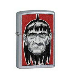 Zippo Shrunken Head Street Chrome Lighter (model: 24737)