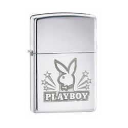 Zippo Playboy Bunny Head High Polish Chrome Lighter (model: 24706)