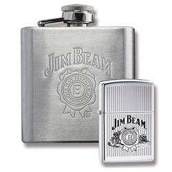 Zippo Jim Beam lighter and Flask - Gift Set (model: 24679)